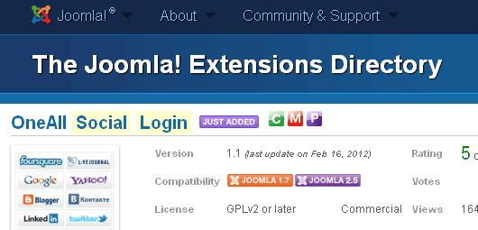 Social Login for Joomla